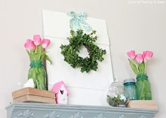 this might work gr8 ! use old wood and dasies and red for ribbon!!
