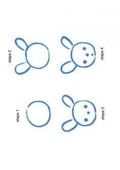 Comment dessiner un lapin etape par etape animaux pinterest - Lapin facile a dessiner ...