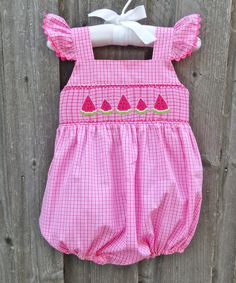 Smocked Watermelon Bubble from Smocked Auctions