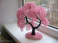 A Guide To Bonsai Trees For Beginners Wire Art Sculpture, Tree Sculpture, Wire Crafts, Bead Crafts, Diy Flowers, Crochet Flowers, Beaded Flowers Patterns, Tree Patterns, Bonsai Wire