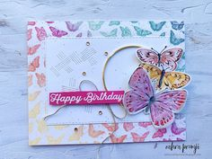 Butterfly Cards, Butterfly Flowers, Flower Cards, Butterflies, Specialty Paper, Butterfly Pattern, Pretty Cards, Diy Projects To Try, Creative Cards