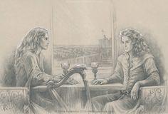 Finrod and Aegnor. The last conversation by EKukanova on DeviantArt