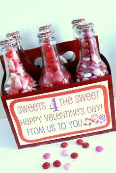 Valentines Pop Box Treats!! Cute idea. Free prints on { lilluna.com } #valentines