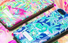 Lilly Pulitzer iPhone Cover with built in wireless charger