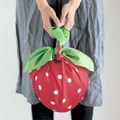 furoshiki strawberry bag