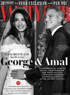 Spreading the love: George, 53 and Amal, 36 share more photos of their big day in Italy's latest issue of Vanity Fair