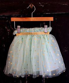 Look what I found on #zulily! Seafoam Green Stars Tutu - Infant, Toddler & Girls #zulilyfinds