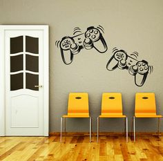 Wall Decal Vinyl Sticker Decals Art Home Decor Design Murals Game Controllers Gamer Gaming Video Game Boy Room Nursery Bedroom Dorm
