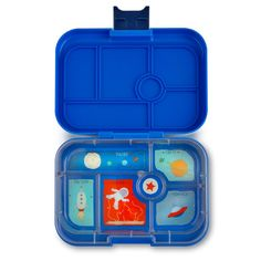 Yumbox Original Neptune Blue with Rocket Tray