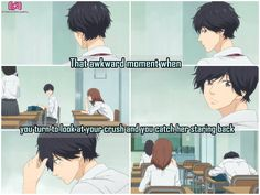 So awkward >\\< Anime: || Ao haru ride ||