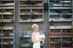 Vertical pallet garden. My fav part was getting plant cuttings from Villa Botanica! It's one of Australia's most beautiful wedding locations and home of Australia's largest private cacti collection. Thanks Janet & Ralph xxx  Model Casey Carmichael   http://www.josweeney.com.au/#/thewacc/