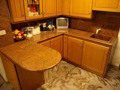 piano cucina in quarzo pepper con fianco di chiusura | piani cucina ...