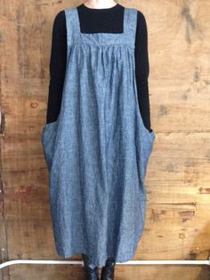 Ambatalia Street Smock - tall - nordic blue - hemp and organic cotton Apron Dress, Smock Dress, Jumper Dress, Wrap Dress, Magnolia Pearl, Diy Couture, Heirloom Sewing, Looks Vintage, Sewing Projects For Beginners