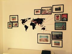 DIY - world map - travel pictures