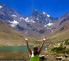 After a 12 mile hike, Naomi Franko made it to Cajón del Maipo!