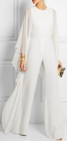 Elie Saab | Silk-chiffon and stretch-crepe jumpsuit