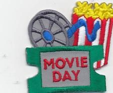 Girl Boy Cub MOVIE DAY theater visit tour Fun Patches Crests Badges SCOUT GUIDE