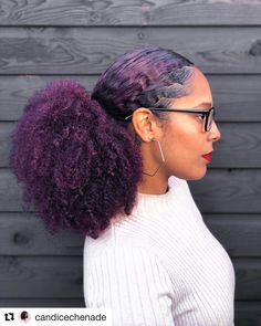 natural hair - Pretty Hairstyles to Try - Dyed Purple Natural Hair, Purple Hair Black Girl, Dyed Natural Hair, Natural Hair Tips, Natural Hair Styles, Braid Out Natural Hair, Natural Updo, Lavender Hair, Black Hair