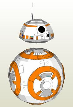 """Pic of finished model: BB-8 and R2D2 Download it here:bb-8.pdobb-8.pdf Update: A Youtuber by the name of Yoshiny Yo made a """"how to"""" video here: youtu.be/Vwb0Tlw4wOY"""