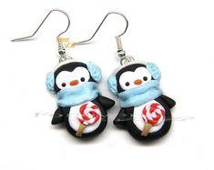 Penguin Earrings Christmas gift Idea Fimo Kawaii