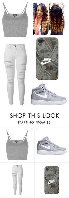 """"""""""" by lexiswagg on Polyvore featuring Topshop, NIKE and Frame Denim"""