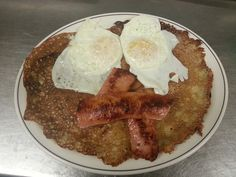 Finn Pancakes with Eggs and Fried Finn Sausage