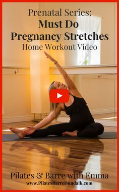 Pregnancy stretches us in every way possible. All of that beautiful growth and change is unfortunately often accompanied by discomforts such as sciatica and round ligament pain.Fortunately, studies show that exercise like Pilates and stretching, are a tried-and-true way to ease tight muscles and alleviate pregnancy-related aches and pains.I have chosen the following stretches as […]The post Prenatal Series: Must Do Pregnancy Stretches appeared first on Pilates & Barre, Dundalk. Pilates Barre, Pilates Video, Barre Workout, Pregnancy Pilates, My Pregnancy, Pregnancy Workout, Home Workout Videos, At Home Workouts, Sciatica