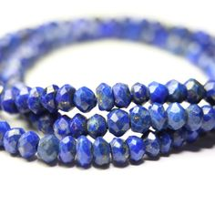 Lapis Lazuli Micro Faceted Rondelles Set by SerendipityGemstones, $5.00