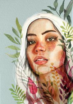 Watercolor Art Face, Watercolor Paintings, Watercolor Landscape, Watercolor Trees, Watercolor Artists, Watercolor Pattern, Abstract Paintings, Oil Paintings, Painting Art