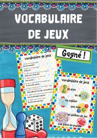Vocabulaire de jeux – Französisch Teaching French, Vocabulary, Gaming, Fun Learning, Teaching French Immersion, Play Based Learning, Foreign Language, Teaching Materials, Teachers