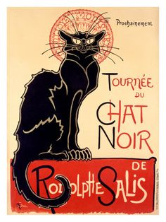 Tournée du Chat Noir, c.1896 Impressão giclée por Théophile Alexandre Steinlen na AllPosters.com.br
