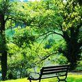 S'asseoir sur un banc ...