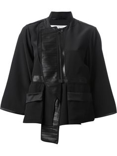You'll find a great selection of designer cropped jackets at Farfetch. Search from over 2000 designers for the perfect designer cropped jacket Silk Jacket, Leather Jacket, Straight Jacket, Striped Jacket, Black Silk, Designing Women, Black Stripes, Givenchy, Bomber Jacket