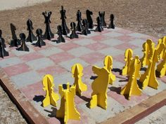 DIY Backyard chess set