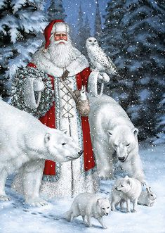 Diamond Painting - Snow Father Christmas - Floating Styles - Diamond Embroidery - Paint With Diamond - free worldwide shipping. We also offer tools like lighting pad, diamond painting kits including quick painting pens. Create Your Own Paint With Diamond Christmas Scenes, Noel Christmas, Father Christmas, Vintage Christmas Cards, Christmas Pictures, Winter Christmas, Christmas Glitter, Christmas Animals, Christmas Things