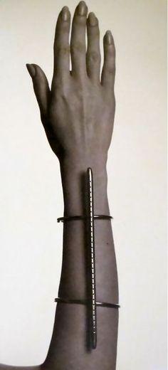 """Lucio Fontana, """"A Gold Bracelet,""""1/30. Executed by GEM, Milan, 1967 (Photo: Ugo Mulas)"""