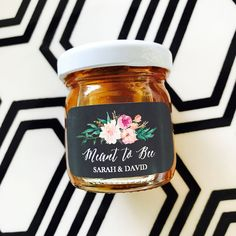 Edible Wedding Favors | Useful Wedding Favors | Wedding Favors Ideas | Meant to Bee Honey Jar Favors