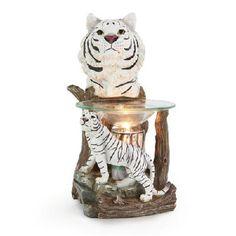 Polyresin Electric Oil/Tart Warmer - White Tiger