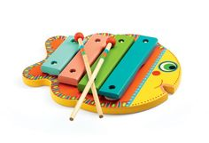 A wonderfully colourful first xylophone. This xylophone by Djeco has 4 wooden keys and is perfect for budding musicians! Suitable From months Dimensions x x Brand Djeco Product Code Barcode 3070900060012 Baby Toys, Kids Toys, Wooden Musical Instruments, Musical Toys, Fish Shapes, Wooden Shapes, Toddler Play, Toys Shop, Wood Toys