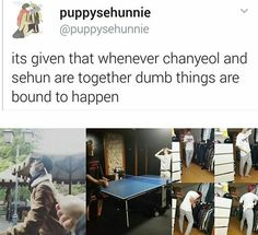 They are such dorks #chanyeol #sehun #exo meme