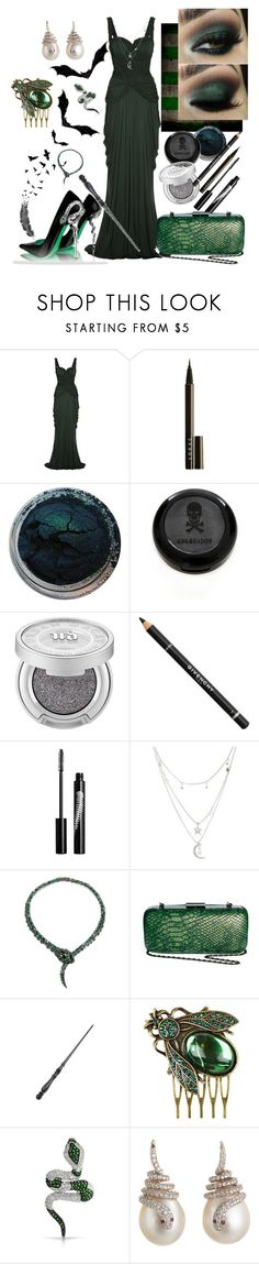 """Slytherin Yule Ball"" by slytherin-pirate-chick ❤ liked on Polyvore featuring Alexander McQueen, LORAC, Urban Decay, Givenchy, Rouge Bunny Rouge, Charlotte Russe, Roberto Cavalli, Maison Scotch, River Island and Bling Jewelry"