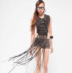 Demobaza-Women's Adorment Avatar Top : Ceiba SF Avatar, Spikes, Denim, Cotton, Shopping, Dark, Tops, Dresses, Leather