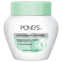 Pond's Cold Cream Cleanser-best make up remover EVER! Beauty Tips Easy, Diy Beauty, Beauty Hacks, Beauty Secrets, Beauty Stuff, Beauty Care, Beauty Skin, Cream For Dry Skin, Skin Cream