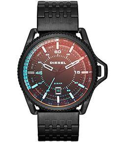 Men's Wrist Watches - Diesel Mens DZ1720 Rollcage Black Stainless Steel Watch *** Visit the image link more details.