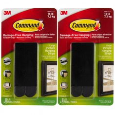 12ct Command 3M Large Black Picture Hanging Strip Sets