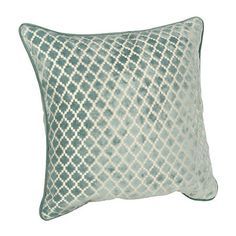 Spa Geometric Velvet Pillow | Kirklands
