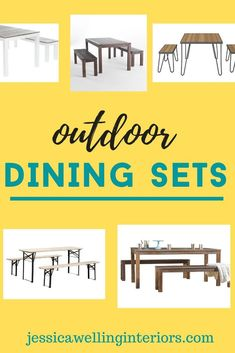 Set up a fun and festive patio dining space in your backyard with one of these stylish and affordable outdoor dining sets! Outdoor Picnic Tables, Kids Picnic Table, Picnic Set, Outdoor Dining Set, Patio Dining, Outdoor Entertaining, Outdoor Living Rooms, Outdoor Dining Furniture, 3 Piece Dining Set