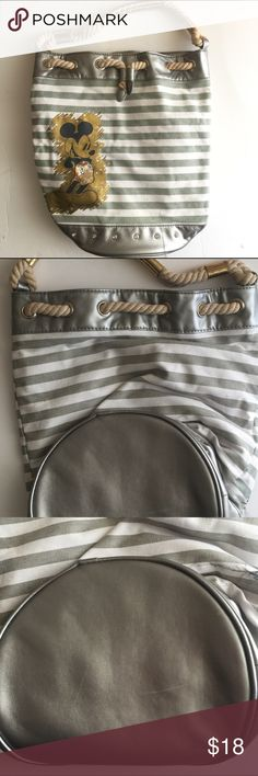 dacf2e02567bd ✨Mickey Canvas Bucket Bag✨ Cute bag Great Condition (has a flaw on inside