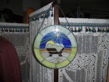 Stained glass nativity sun catcher