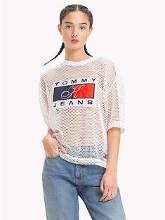 17c96756 TOMMY JEANS Camiseta de malla 90s - BRIGHT WHITE - TOMMY JEANS Capsule -  imagen principal